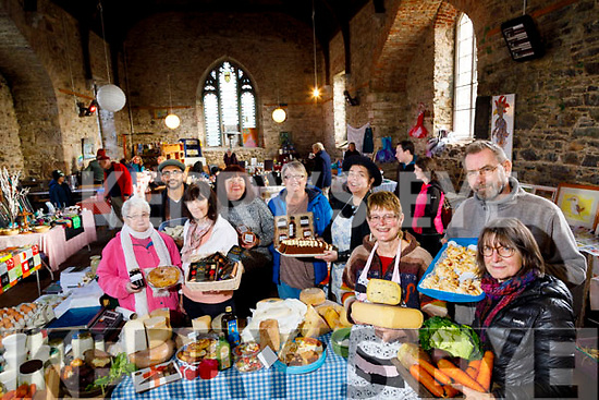 Food Producers at Milltown Market, pictured on Saturday last were l-r: Anita Galvin, Ganesan Balkerishna (Sethu Curry House), Kazia Hackney (Veggie Delights) Barbara Linnane (Oilean Chocolates) Pauline Lyne (Pauline's Pantry), Heidi Castro Ledwych, Wilma O'Connor (Wilma's Killorglin Farmhouse Cheese), Jeurgen Schmitz and Helga Henn.