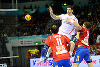 21.01.2013 World Championshio Handball. Match between Spain vs Serbia (31-20) at the stadium Principe Felipe. The picture show  Alberto Entrerrios Rodriguez (Left Back of Spain).