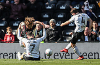 Derby County's Craig Bryson scoring his side's first goal <br /> <br /> Photographer Andrew Kearns/CameraSport<br /> <br /> The EFL Sky Bet Championship - Derby County v Bolton Wanderers - Saturday 13th April 2019 - Pride Park - Derby<br /> <br /> World Copyright &copy; 2019 CameraSport. All rights reserved. 43 Linden Ave. Countesthorpe. Leicester. England. LE8 5PG - Tel: +44 (0) 116 277 4147 - admin@camerasport.com - www.camerasport.com