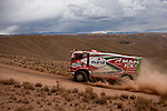 Truck racer Hans Stacey from Holland driving his Man truck during the 5th stage of the Dakar Rally 2016 in the Bolivian Altiplano.