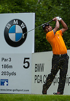 23.05.2015. Wentworth, England. BMW PGA Golf Championship. Round 3.  Thongchai Jaidee [THA]   on the 5th tee during the third round of the 2015 BMW PGA Championship from The West Course Wentworth Golf Club