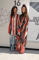 LOS ANGELES, CA - JUNE 26: Chloe Bailey and Halle Bailey at the 2016 BET Awards at the Microsoft Theater on June 26, 2016 in Los Angeles, California. Credit: David Edwards/MediaPunch