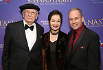 Terrence McNally, Lynn Ahrens & Stephen Flaherty attends Broadway Opening Night After Party for 'Anastasia' at the Mariott Marquis Hotel on April 24, 2017 in New York City.