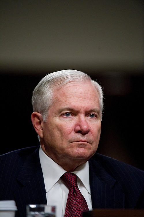 WASHINGTON, DC - March 31: Defense Secretary Robert M. Gates testifies during the Senate Armed Services hearing on the situation in Libya. (Photo by Scott J. Ferrell/Congressional Quarterly)