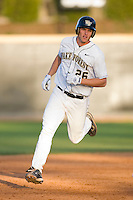 Ryan Semeniuk #26 of the Wake Forest Demon Deacons rounds the bases after hitting a solo home run against the Charlotte 49ers at Wake Forest Baseball Park March 30, 2010, in Winston-Salem, North Carolina.  Photo by Brian Westerholt / Four Seam Images