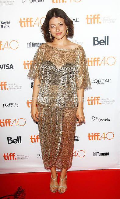 WWW.ACEPIXS.COM<br /> <br /> September 10 2015, Toronto<br /> <br /> Actress Alia Shawkat at the premiere of The Green Room during the 40th Toronto International Film Festival at the Ryerson Theatre in Toronto, Canada, on 10 September 2015<br /> <br /> By Line: Famous/ACE Pictures<br /> <br /> <br /> ACE Pictures, Inc.<br /> tel: 646 769 0430<br /> Email: info@acepixs.com<br /> www.acepixs.com
