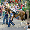 Wicked Mizz before The Go For Wand Stakes at Delaware Park on 6/9/12