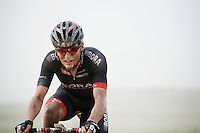 a Bora-Argon18 rider making his way through the dust<br /> <br /> 90th Schaal Sels 2015