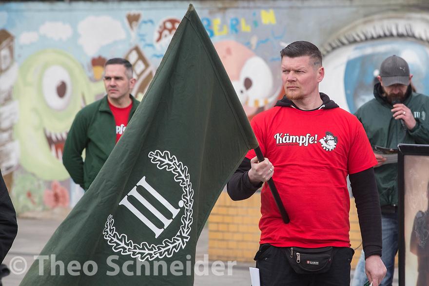 Kundgebung der Neonazipartei III. Weg in Lichtenberg   Theo Schneider