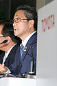 Toyota Motor Corp. Executive Vice President Osamu Nagata speaks during a news conference to present the company's financial results for the first half of its' 2017 financial year on November 7, 2017, Tokyo, Japan. Nagata reported 4,389,435 vehicle sales between April and September, an increase in 25,898 units compared to the same period in the previous fiscal year. Toyota's net revenues rose 8.6 percent to 14.191.2 trillion yen for the period whilst operative income decreased by 20.3 billion yen. (Photo by Rodrigo Reyes Marin/AFLO)