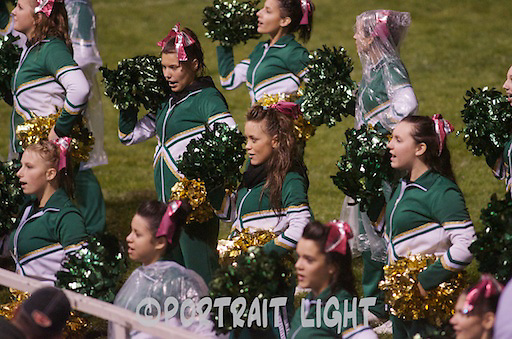 The CHS cheerleaders, including senior Eden Nugent (center) perform during a game.
