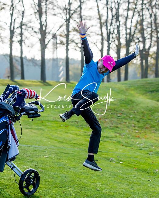 EEMNES - Vreugde bij speler van Houtrak. Finales National Golfsixes League, georganiseerd door PGA Holland. . COPYRIGHT KOEN SUYK