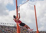Wales Ben Gregory in action during the pole vault session of the Decathlon<br /> <br /> *This image must be credited to Ian Cook Sportingwales and can only be used in conjunction with this event only*<br /> <br /> 21st Commonwealth Games  -  Day 6 - 10<br /> \04\2018 - Carrara Stadium - Gold Coast City - Australia