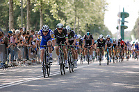 Petr Vakoc  (CZE/Quick-Step Floors) leading out the peloton on the local parcours of Venray (NED) with 1 lap to go. <br /> <br /> Binckbank Tour 2017 (UCI World Tour)<br /> Stage 1: Breda (NL) > Venray (NL) 169,8km