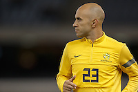 MELBOURNE, 11 JUNE 2013 - Mark BRESCIANO of Australia warms up for a Round 4 FIFA 2014 World Cup qualifier match between Australia and Jordan at Etihad Stadium, Melbourne, Australia. Photo Sydney Low for Zumapress Inc. Please visit zumapress.com for editorial licensing. *This image is NOT FOR SALE via this web site.