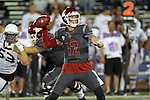 Connor Halliday fires a pass during the Washington State Cougars non-conference road opener against the Nevada Wolfpack at Mackay Stadium in Reno, Nevada, on September 5, 2014.