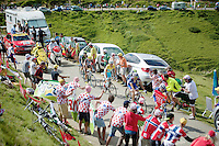 Vincenzo Nibali (ITA/Astana) up the Port de Balès (HC/1755m/11.7km/7.7%)<br /> <br /> 2014 Tour de France<br /> stage 16: Carcassonne - Bagnères-de-Luchon (237km)