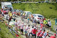 Vincenzo Nibali (ITA/Astana) up the Port de Bal&egrave;s (HC/1755m/11.7km/7.7%)<br /> <br /> 2014 Tour de France<br /> stage 16: Carcassonne - Bagn&egrave;res-de-Luchon (237km)