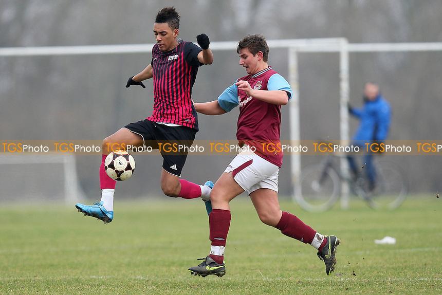 Byron (pink/black) vs Railway Tavern - East London Sunday League East London Cup Football at South Marsh, Hackney Marshes, London - 29/02/12 - MANDATORY CREDIT: Gavin Ellis/TGSPHOTO - Self billing applies where appropriate - 0845 094 6026 - contact@tgsphoto.co.uk - NO UNPAID USE.