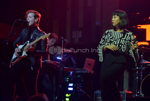 FORT LAUDERDALE, FL - DECEMBER 04: Thom Powers and Alisa Xayalith of The Naked And Famous perform at Revolution Live on December 4, 2016 in Fort Lauderdale, Florida.  Credit: MPI10 / MediaPunch