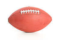 Close up and isolated series of an American football.