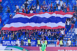 Thailand soccer fans celebrate their team winning the AFC Asian Cup UAE 2019 Group A match between Bahrain (BHR) and Thailand (THA) at Al Maktoum Stadium on 10 January 2019 in Dubai, United Arab Emirates. Photo by Marcio Rodrigo Machado / Power Sport Images