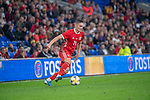 Cardiff - UK - 9th September :<br />Wales v Belarus Friendly match at Cardiff City Stadium.<br />Connor Roberts of Wales.<br />Editorial use only