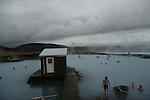 Bain d eau chaude en Islande