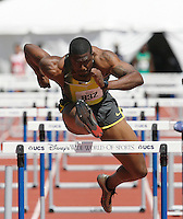 David Oliver won the 110m hurdles in a time of 13.33sec. at the 2008 Walt Disney World Invitational @ Lake Buena Vista,Fl.Photo by Errol Anderson,The Sporting Image.