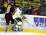 18 October 2009: University of Vermont Catamount forward Tobias Nilsson-Roos, a Freshman from Malmo, Sweden, in action against the Boston College Eagles at Gutterson Fieldhouse in Burlington, Vermont. The Catamounts defeated the Eagles 4-1 to open Vermont's America East hockey season. Mandatory Credit: Ed Wolfstein Photo