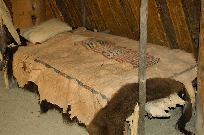 Bison robes were a valuable item that were used for trade or bedding and robes during winter months.