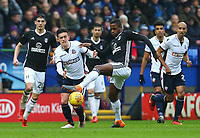 Bolton Wanderers'  Zach Clough attempt for the ball against Fulham's Ryan Sessegnon  <br /> <br /> Photographer Leila Coker/CameraSport<br /> <br /> The EFL Sky Bet Championship - Bolton Wanderers v Fulham - Saturday 10th February 2018 - Macron Stadium - Bolton<br /> <br /> World Copyright &copy; 2018 CameraSport. All rights reserved. 43 Linden Ave. Countesthorpe. Leicester. England. LE8 5PG - Tel: +44 (0) 116 277 4147 - admin@camerasport.com - www.camerasport.com