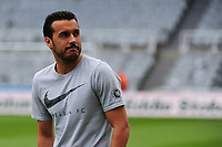 Pedro of Chelsea walks onto the pitch before kick off  during Newcastle United vs Chelsea, Premier League Football at St. James' Park on 13th May 2018