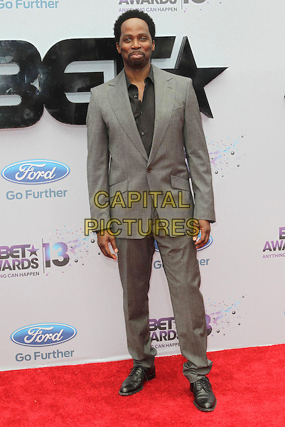 Harold Perrineau<br /> 2013 BET Awards held at Nokia Theatre L.A. Live, Los Angeles, California, USA.<br /> June 30th, 2013<br /> full length grey gray suit black shirt <br /> CAP/ADM/KB<br /> &copy;Kevan Brooks/AdMedia/Capital Pictures