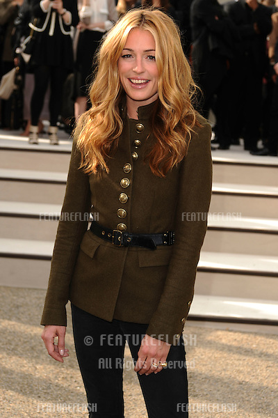 Cat Deeley arriving for the Burberry fashion show as part of London Fashion Week at the Chelsea College of Art and Design, London.  22/09/2010  Picture by: Steve Vas / Featureflash