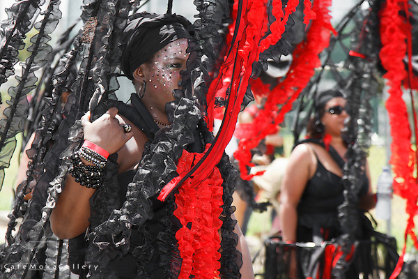 "Trinidad Carnival 2012, Brian Macfarlane's band 'Sanctification"" woman playing Annihilation"