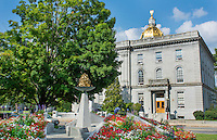 Concord New Hampshire NH downtown city center Capital Building with Gold Dome on State Capital Building