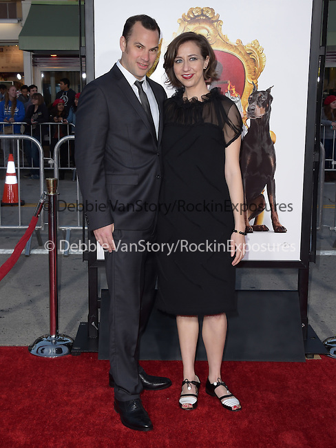Kristen Schaal attends The Universal Pictures' World Premiere of The Boss held at The Regency Village Theatre  in Westwood, California on March 28,2016                                                                               ©2016 Hollywood Press Agency
