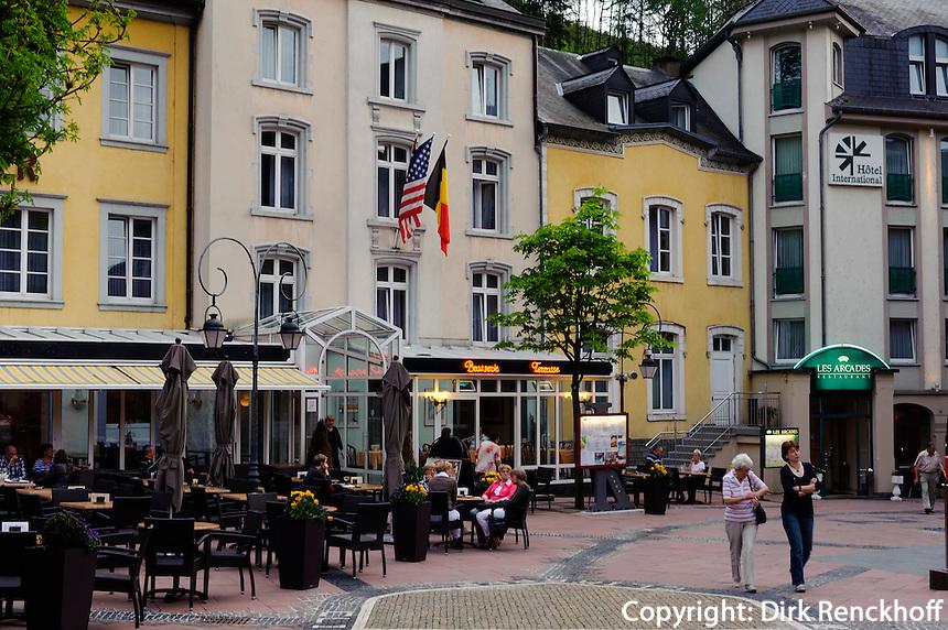 Fußgangerzone in Clervaux, Luxemburg