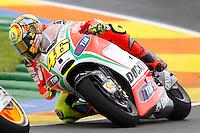 11.11.2012 SPAIN GP Generali de la Comunitat Valenciana Moto GP Race. The picture show Valentino Rossi (Italian rider Ducati Team DUCATI)