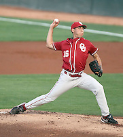 Bobby Shore #16 of the Oklahoma Sooners plays against the Arizona State Sun Devils in the first of a two-game series on March 15, 2011 at Packard Stadium, Arizona State University, in Tempe, Arizona. .Photo by:  Bill Mitchell/Four Seam Images.