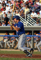 July 4, 2003:  Mike Galloway (9) of the Auburn Doubledays, Class-A affiliate of the Toronto Blue Jays, during a game at Dwyer Stadium in Batavia, NY.  Photo by:  Mike Janes/Four Seam Images