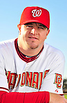 28 February 2010: Washington Nationals relief pitcher Matt Capps poses for his Spring Training photo at Space Coast Stadium in Viera, Florida. Mandatory Credit: Ed Wolfstein Photo