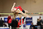 NAPERVILLE, IL - MARCH 11: Hannah Hall of Denison competes in the women's high jump at the Division III Men's and Women's Indoor Track and Field Championship held at the Res/Rec Center on the North Central College campus on March 11, 2017 in Naperville, Illinois. (Photo by Steve Woltmann/NCAA Photos via Getty Images)