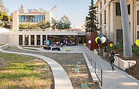 Exterior of the newly remodeled Hameetman Career Center (HCC), which is home to Career Services, National and International Awards and Pre-Health Advising offices. March 17, 2016.<br />
