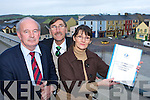 John Pierce CEO South Kerry Development Partnership, Eric Champ and Mary McGillycuddy Killorglin Community CCTV scheme who will be installing CCTV cameras in Killorglin observing the view one of the cameras will have on Tuesday   Copyright Kerry's Eye 2008