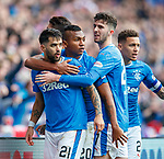 11.3.2018 Rangers v Celtic:<br /> Daniel Candeias celebrates his goal