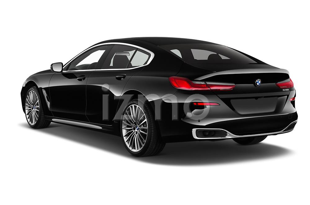 Car pictures of rear three quarter view of a 2019 BMW 8 Series Basis 4 Door Sedan angular rear