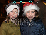 Orla Ivers and Ilaria Hatch at the turning on of the christmas lights in Bettystown. Photo:Colin Bell/pressphotos.ie