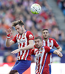 Atletico de Madrid's Saul Niguez, Gabi Fernandez and Koke Resurrecccion during La Liga match. April 23,2016. (ALTERPHOTOS/Acero)